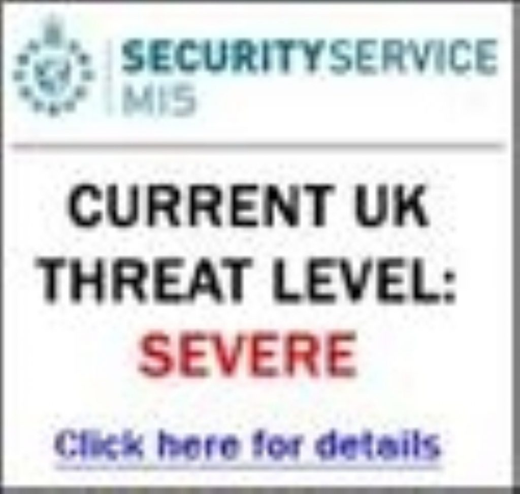 A UK threat level poster