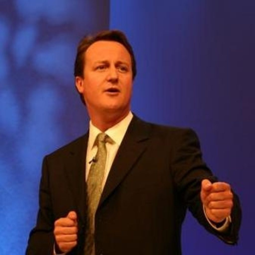 Cameron is hoping his poll lead improves before Britain goes to the polls