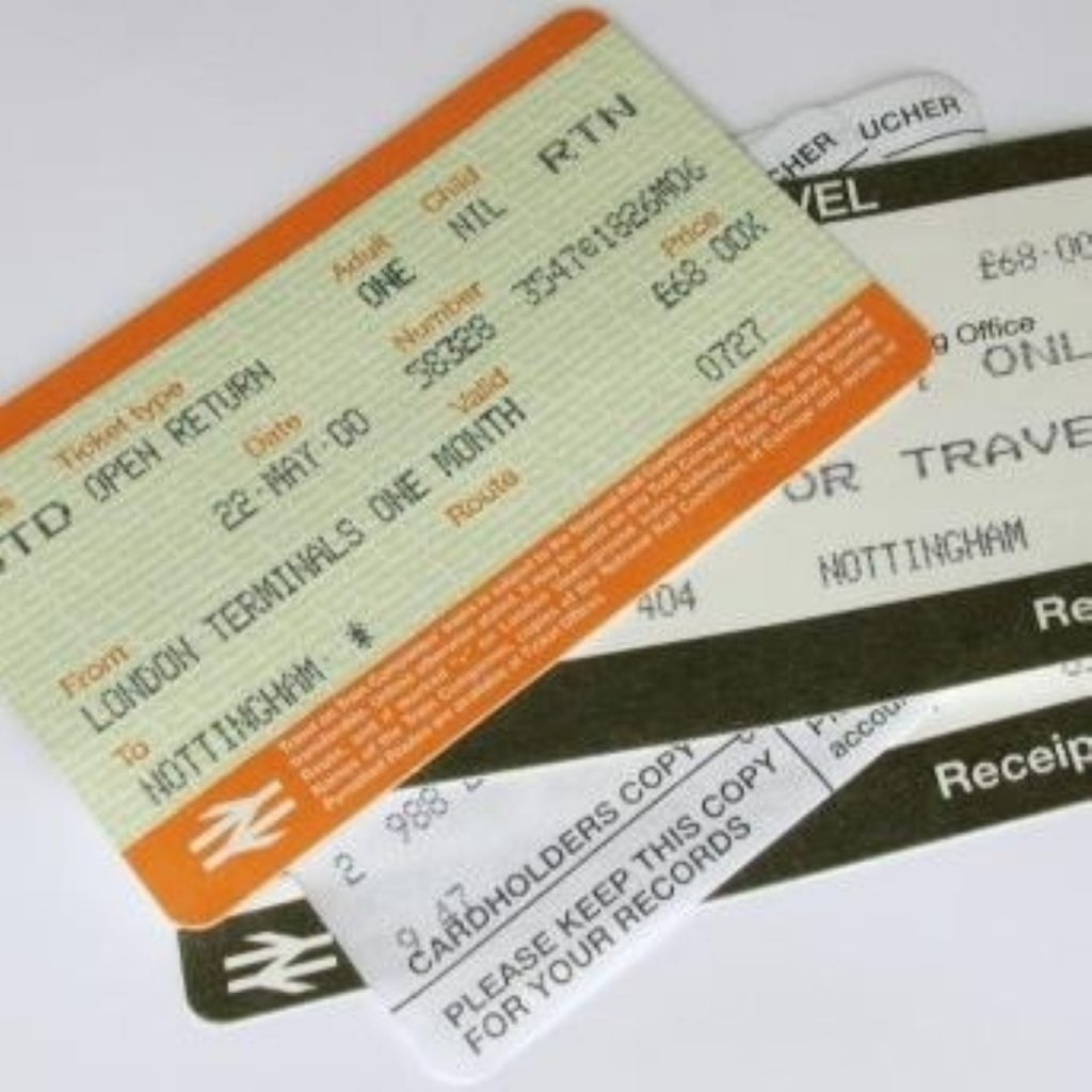 Anger at Department for Transport as rail fares rise