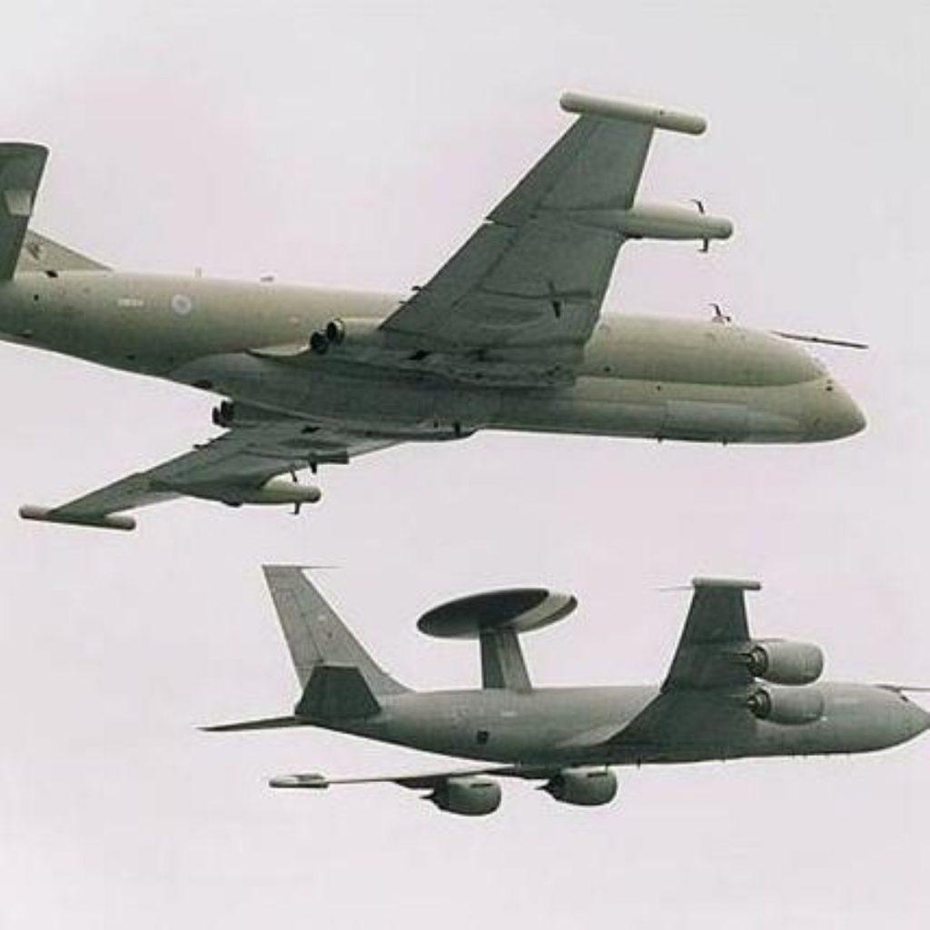 RAF Nimrods were grounded after the crash