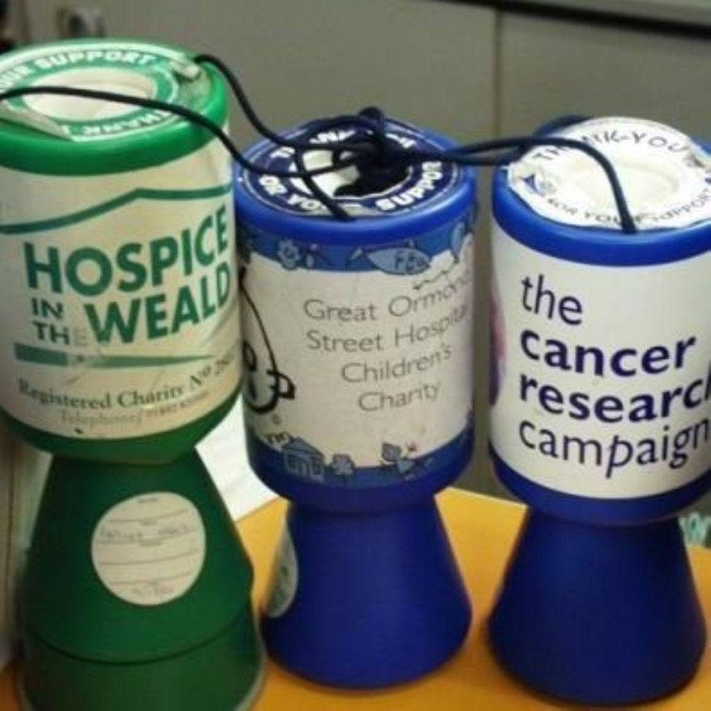 People are less willing to hand over to charities
