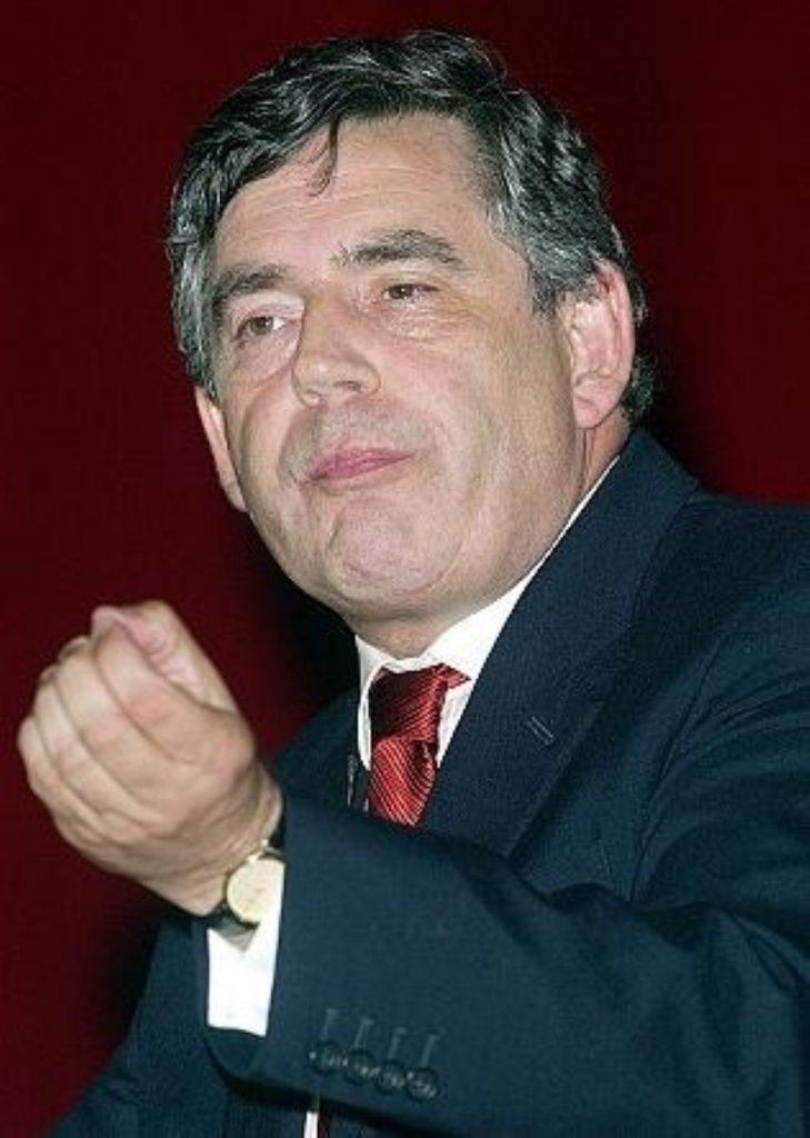Gordon Brown is meeting UK troops in Basra