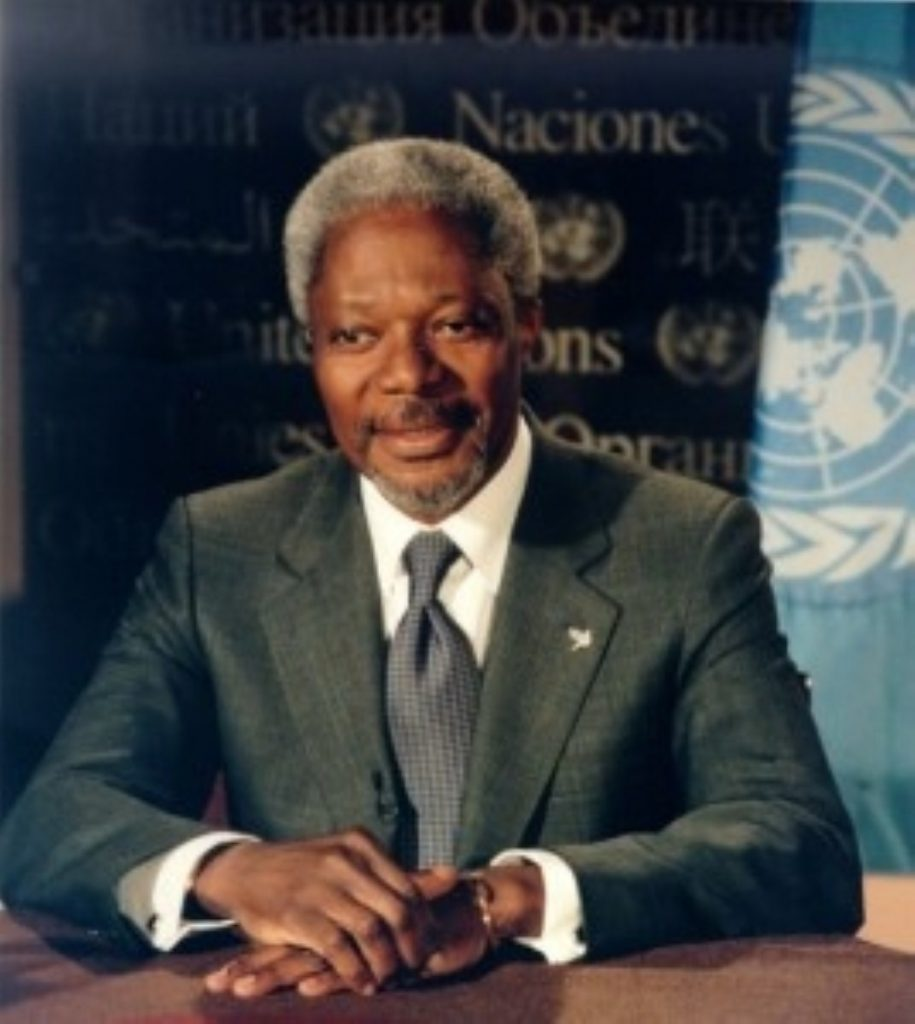Kofi Annan calls for African intervention in Liberia