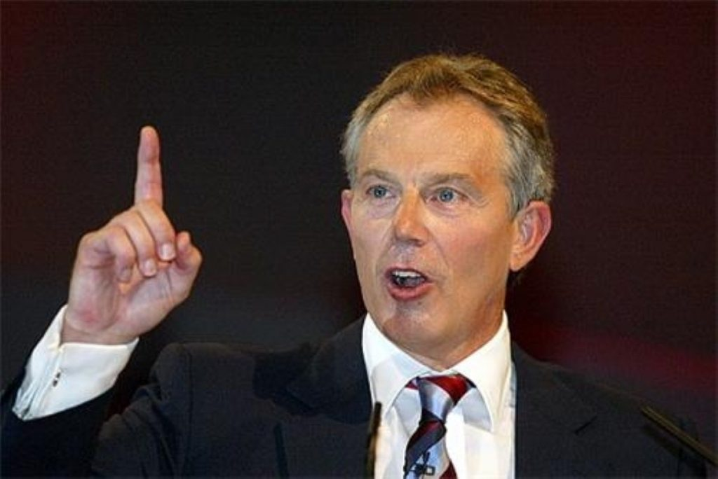 Tony Blair gives the appearance of a man in control of things