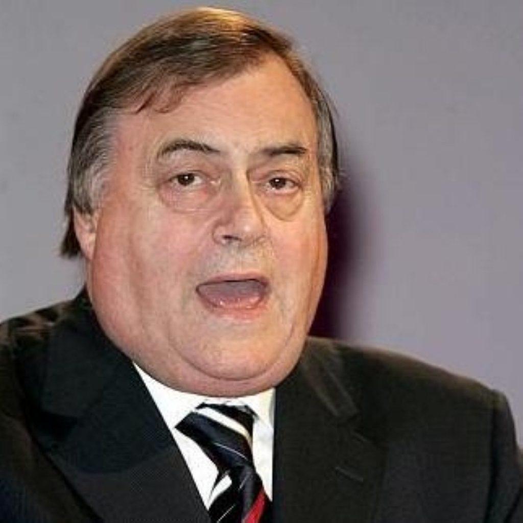 John Prescott served as deputy prime minister under Tony Blair