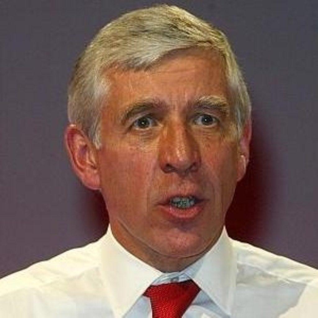 Justice secretary Jack Straw outlines details of emergency legislation