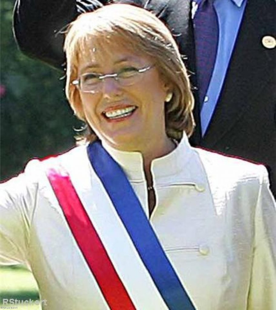Brown will today hope for a warmer welcome from Michelle Bachelet