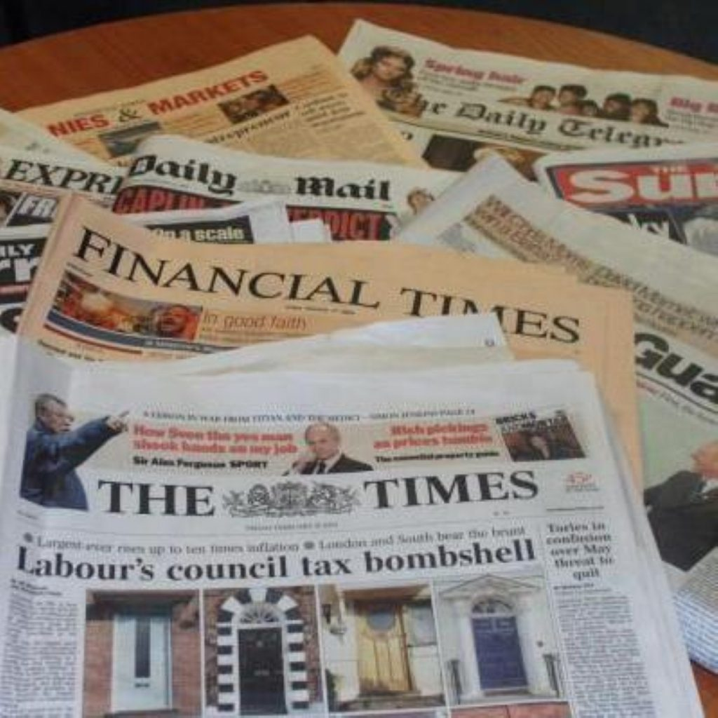 Newspapers under fire in Lords report