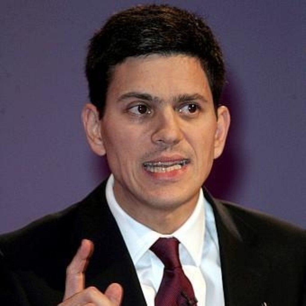David Miliband seeks domestic policy improvement