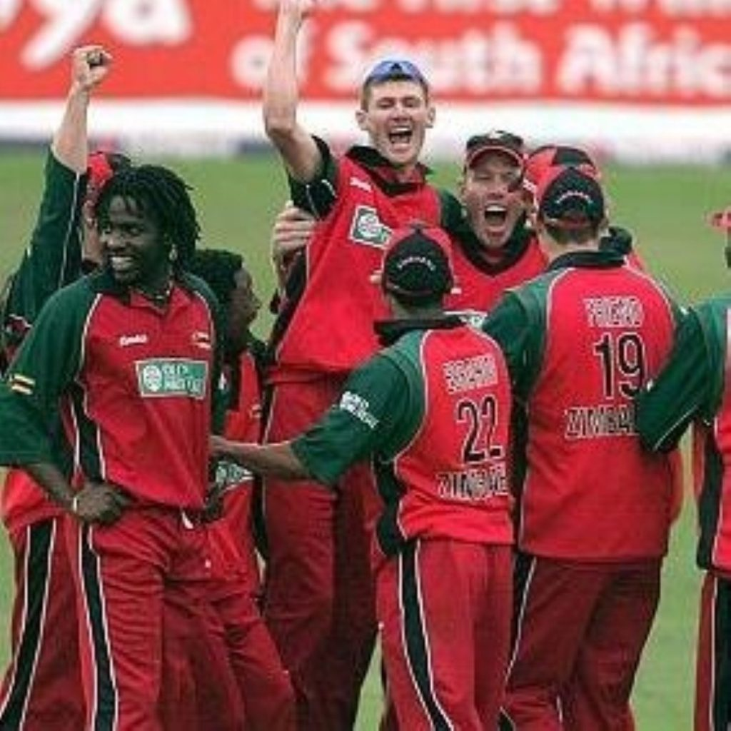 Zimbabwe's cricketers banned by UK government