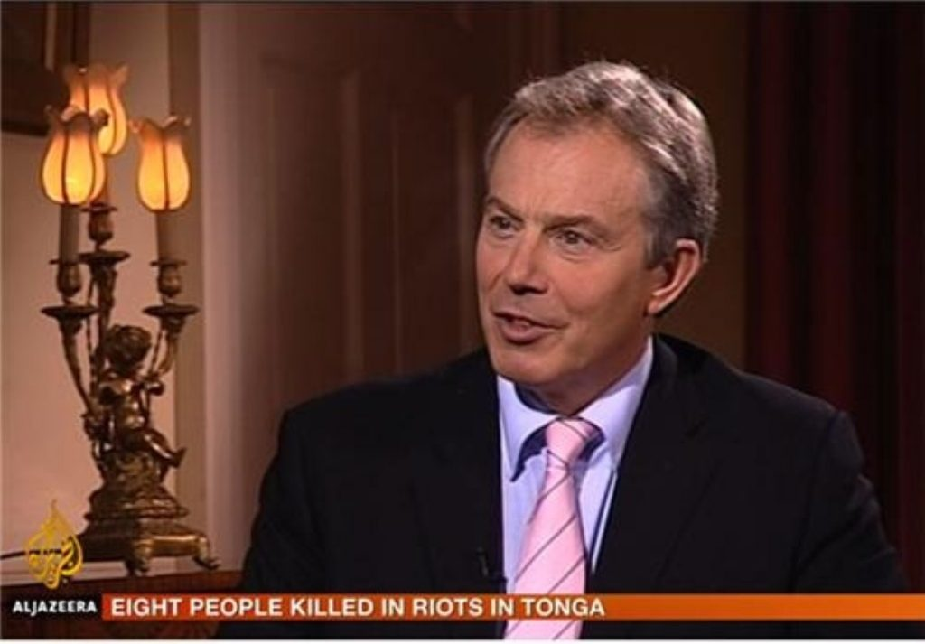 Tony Blair made the comments about Iraq on al-Jazeera television
