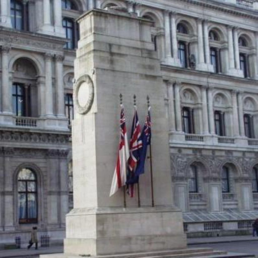 The incident took place close to the Cenotaph on Whitehall