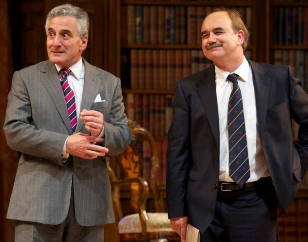Henry Goodman (Sir Humphrey) and David Haig (Jim Hacker) in the updated Yes, Prime Minister