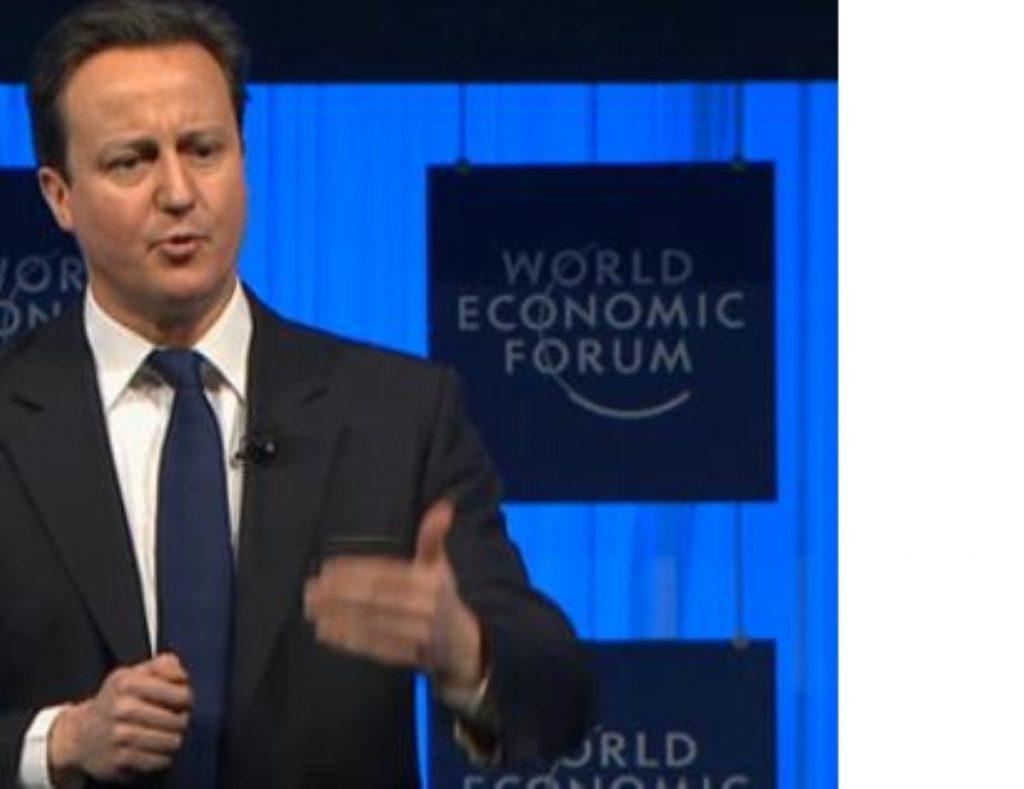 David Cameron makes his case during a previous Davos forum