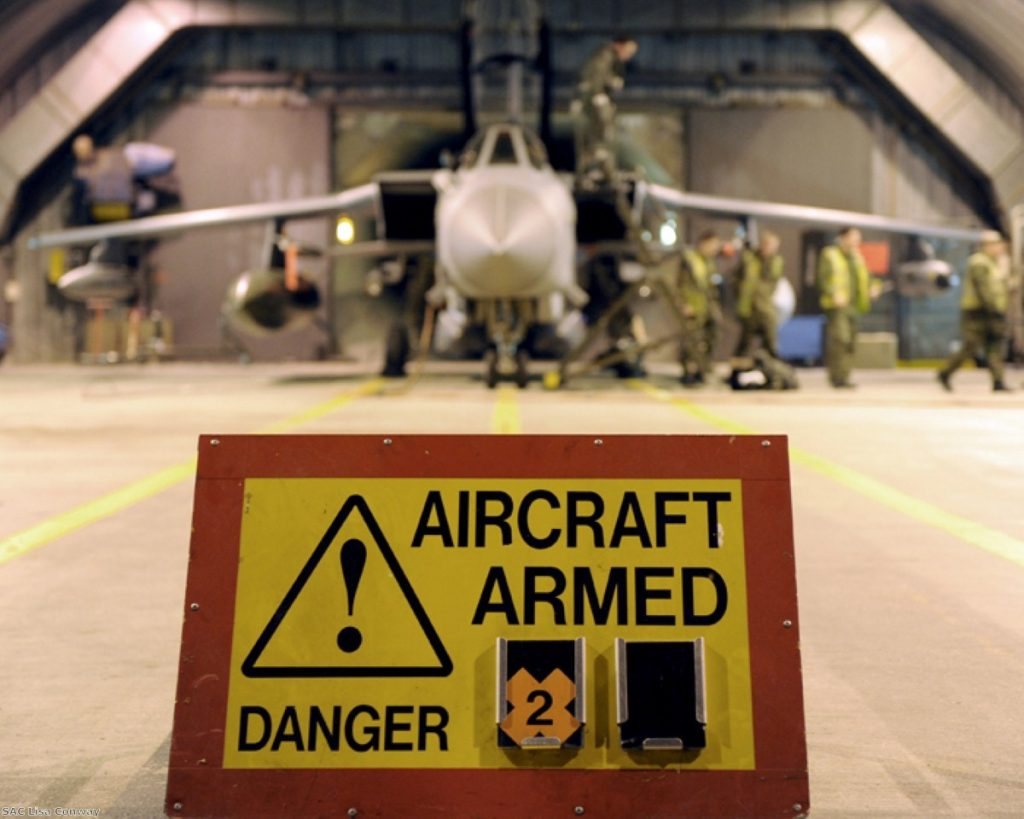 Nato air strikes are not rolling Gaddafi's forces back. Photo: SAC Lisa Conway