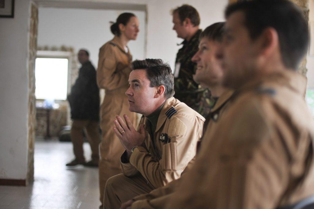 RAF pilots prepare for a mission over Libya