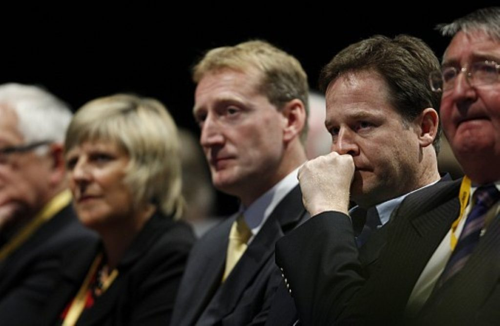 Into the darkness? Coalition could consign the Lib Dems into the 'annals of history', Bradley warned.