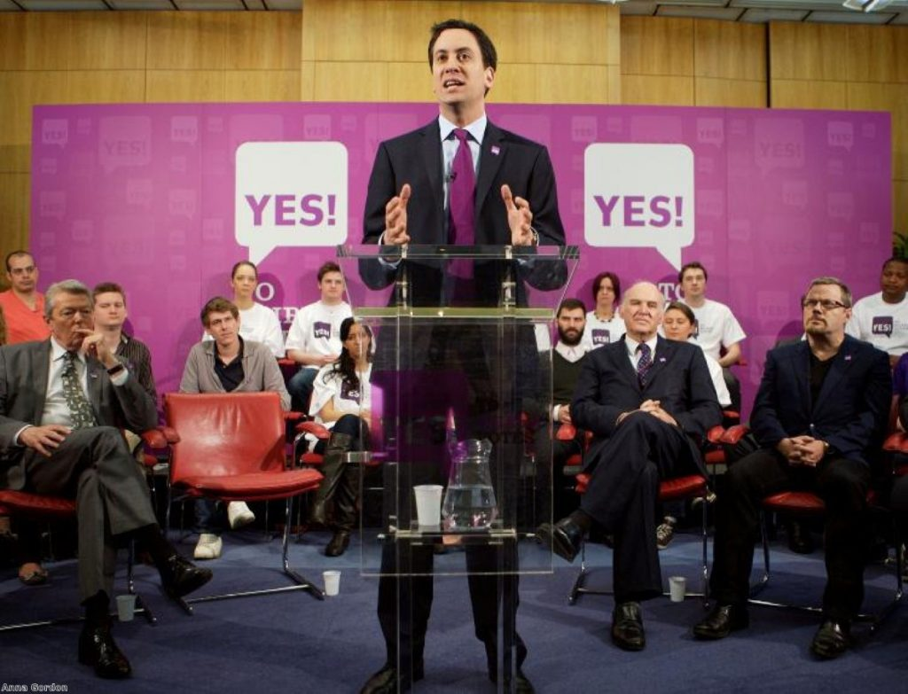 Leading by example? Most Labour MPs back a 'no' vote despite Ed Miliband's efforts.