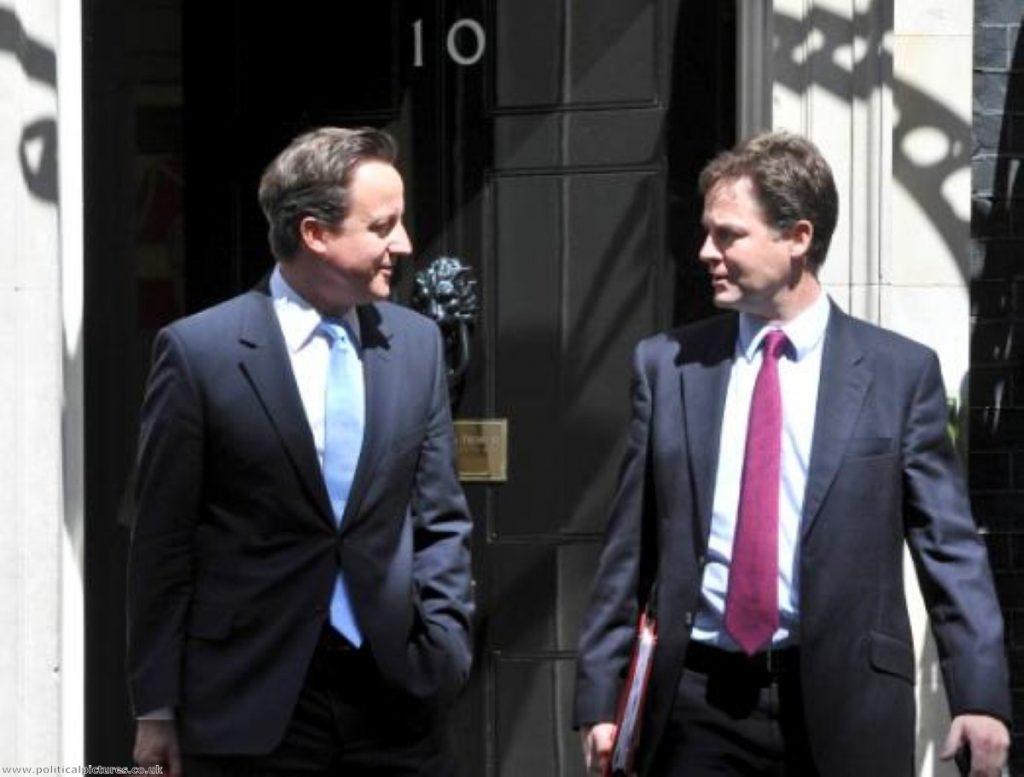 Coalition tension? Clegg's outburst marks a decisive split in Tory/Lib Dem school policy. CREDIT: politicalpictures.co.uk