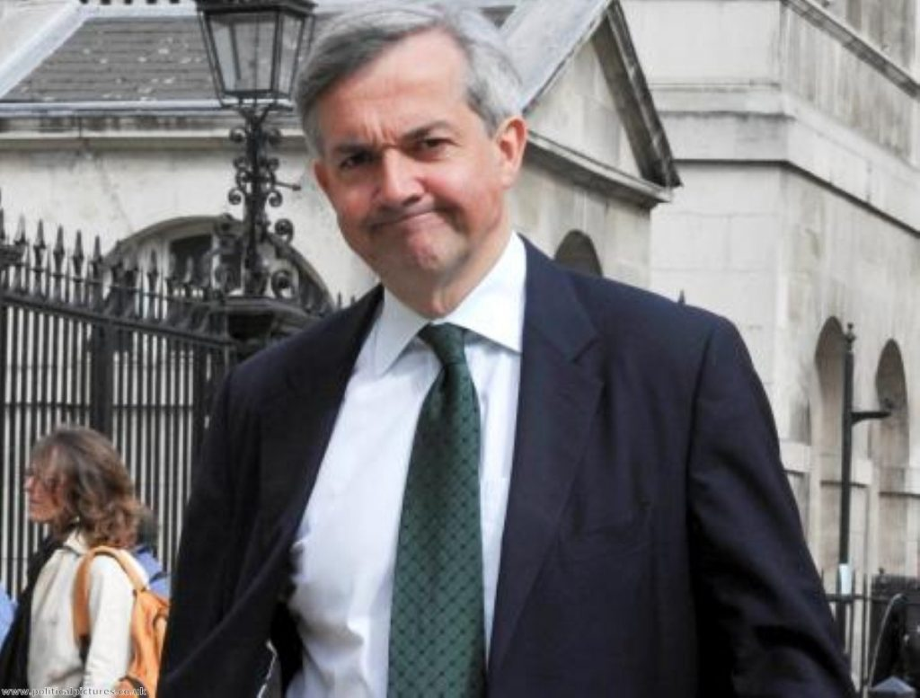 Chris Huhne on Whitehall earlier this week. Photo: www.politicalpictures.co.uk