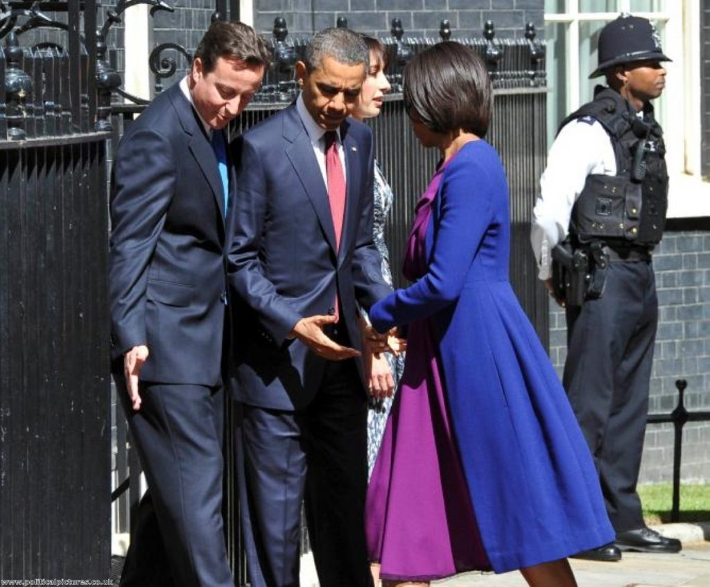 David Cameron and Barack Obama in polite mode outside No 10. Photo: www.politicalpictures.co.uk