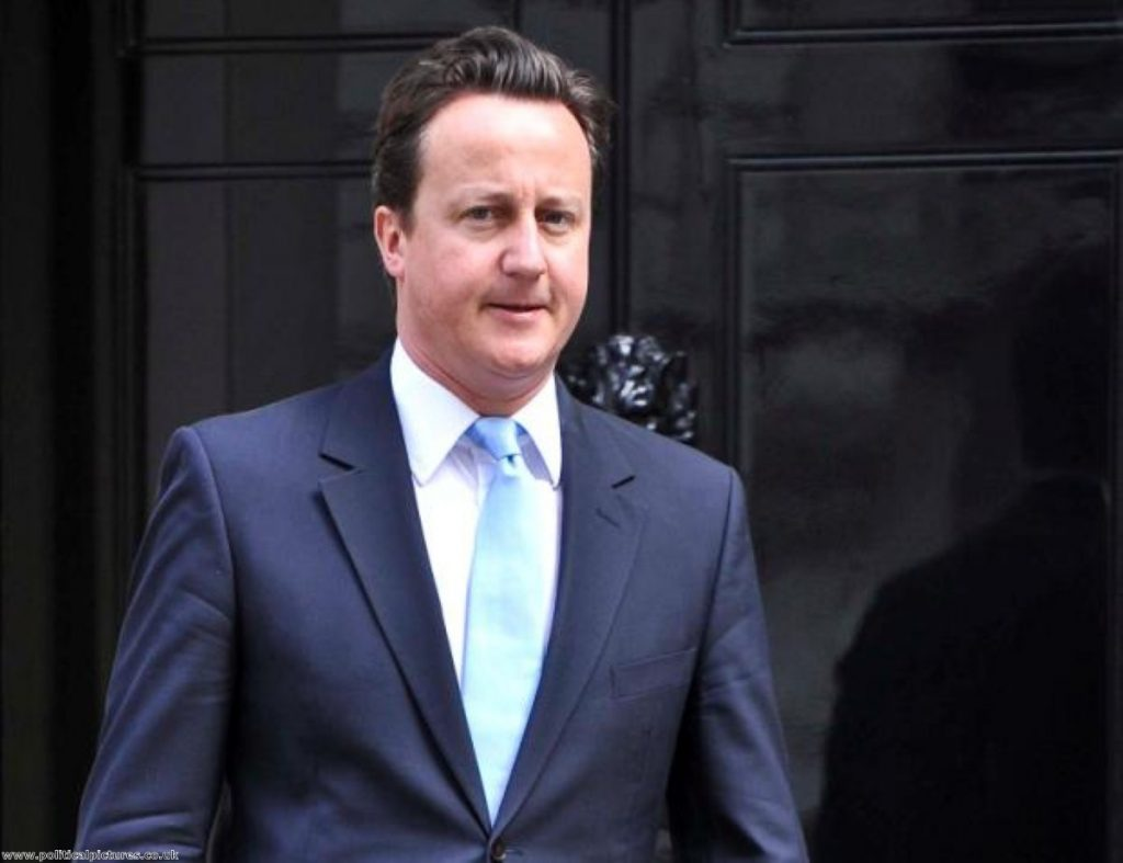 Testing times: Cameron's relationship with News International is under the spotlight. www.politicalpictures.co.uk