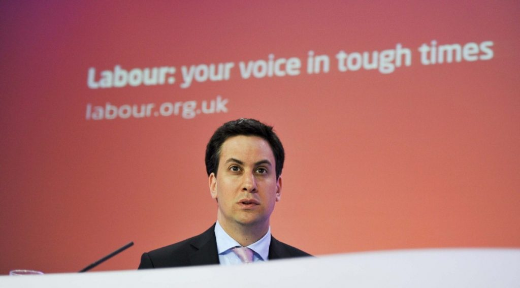 Some Labour supporters are unconvinced by Ed Miliband's leadership. www.politicalpictures.co.uk