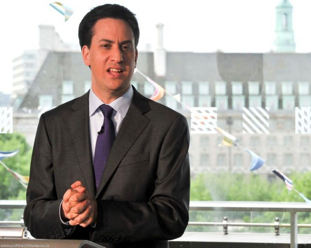 Miliband: Staking out his territory