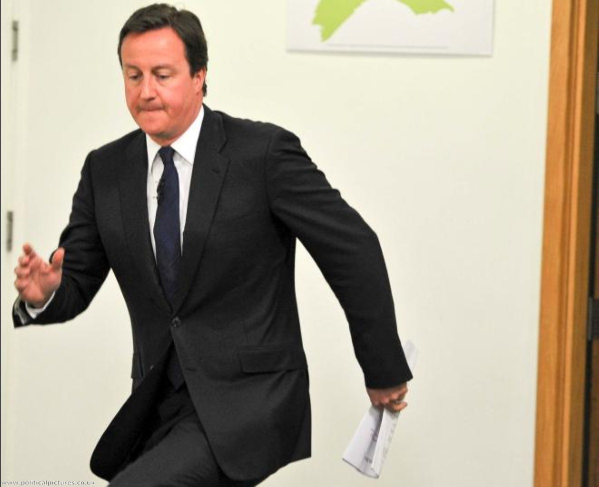 Did Cameron fool his own party? Photo credit: Political Pictures