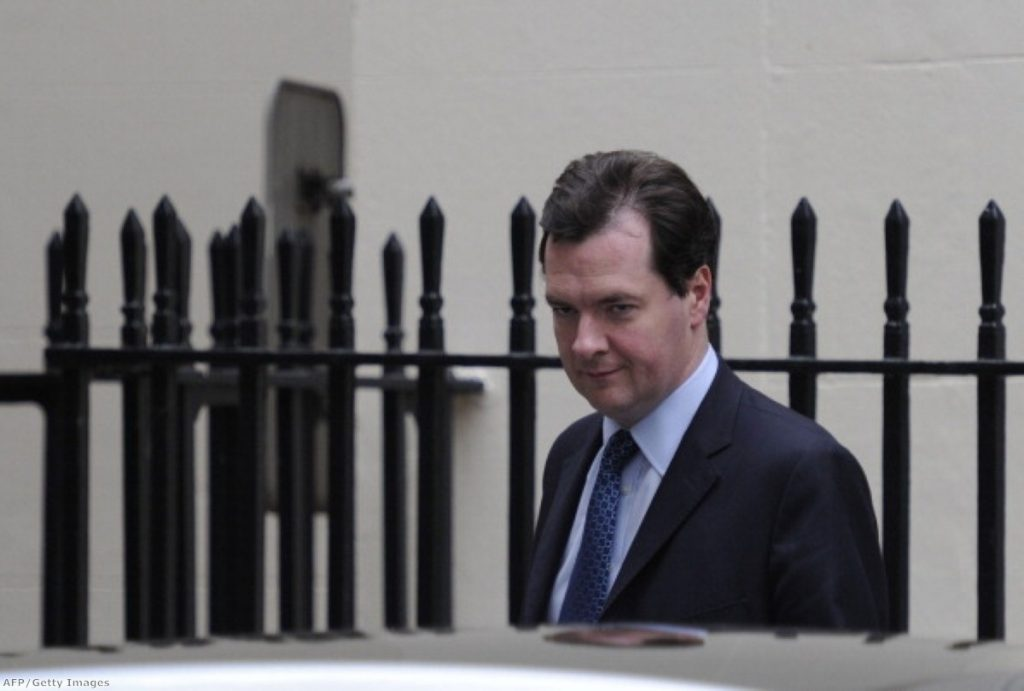George Osborne: Back to cut once again.