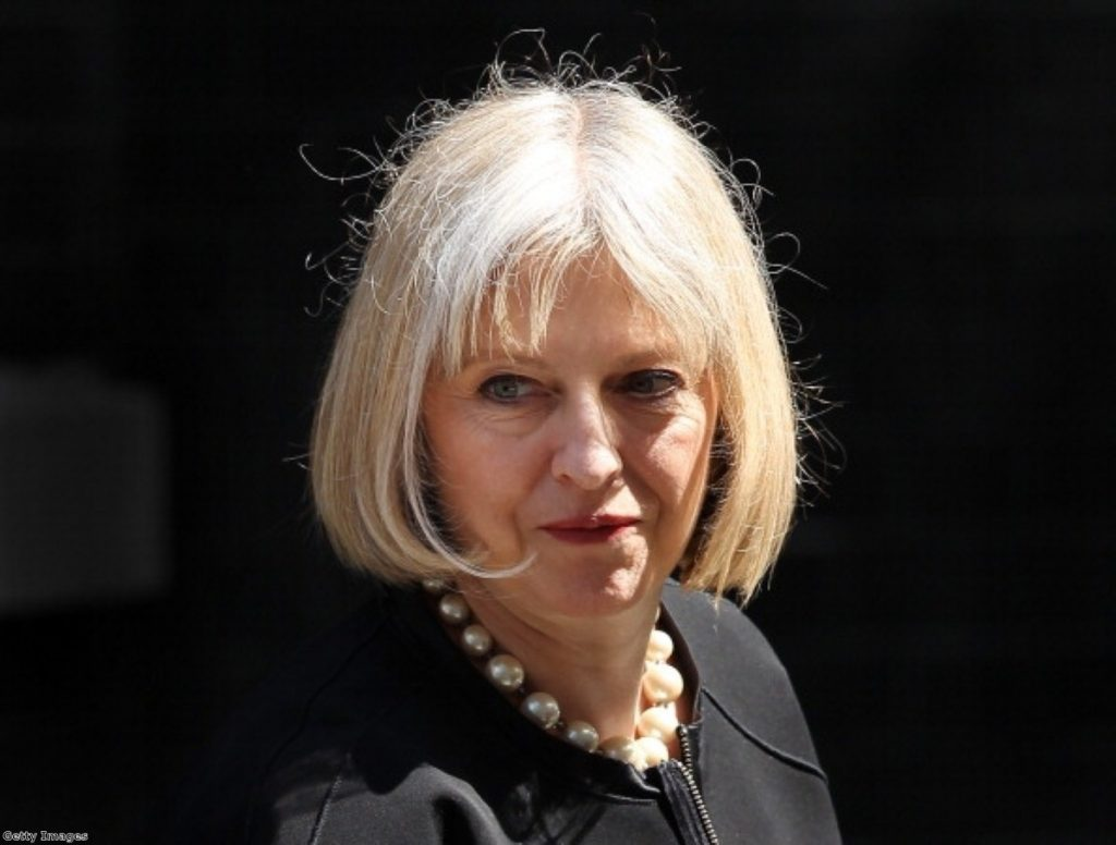 Theresa May had an unseemly war of words with police during the end of the riots.