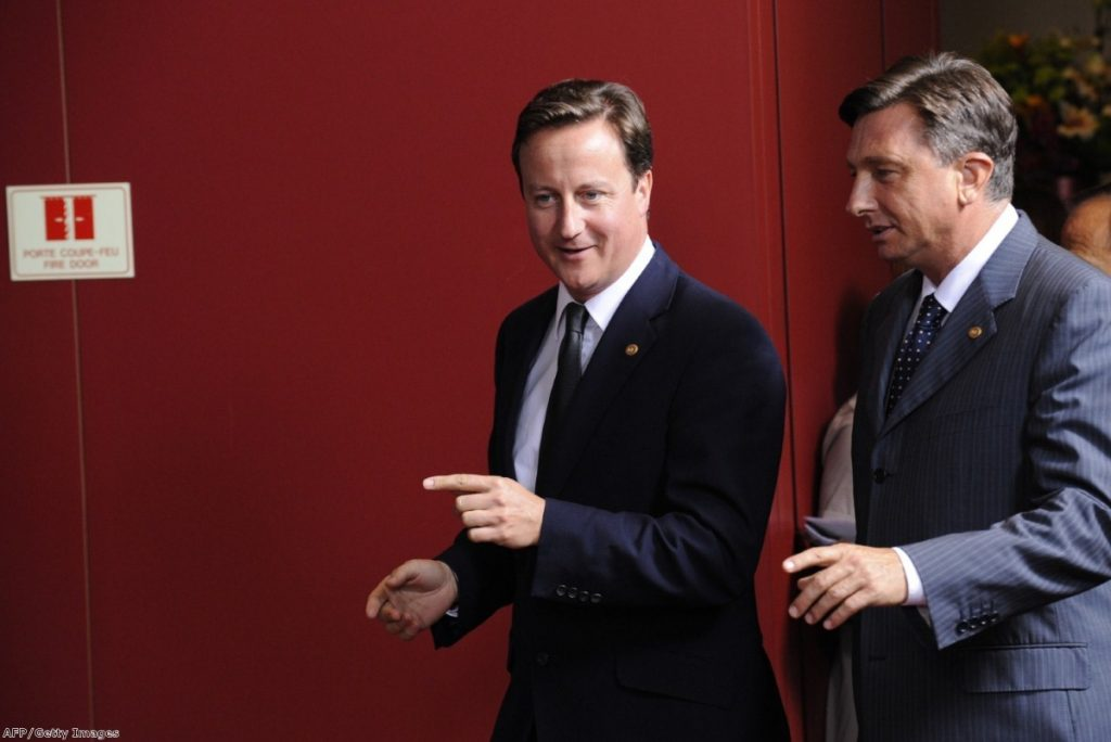 David Cameron looks to eurozone crisis opportunities