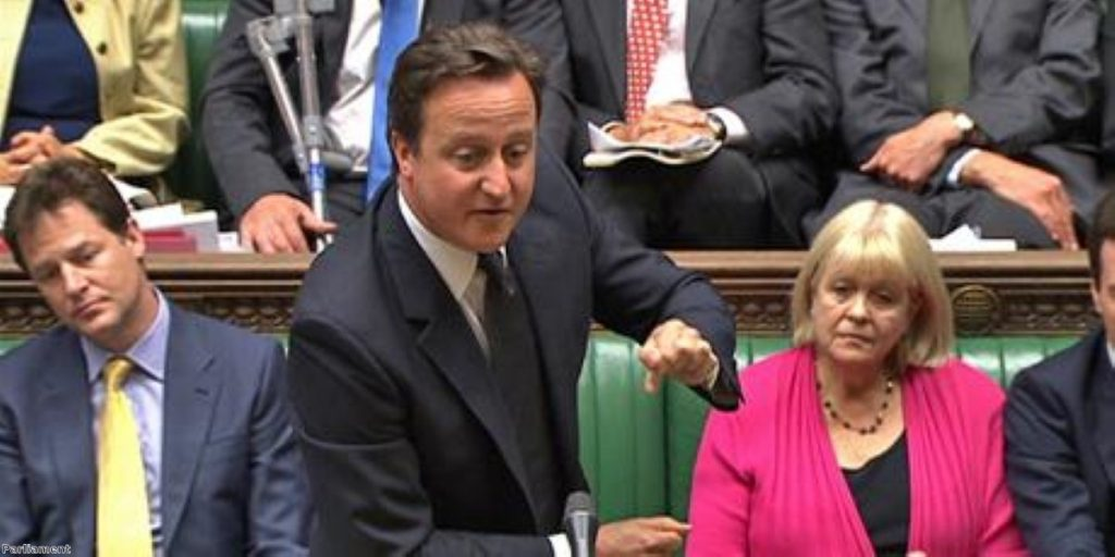 Cameron takes questions at PMQs