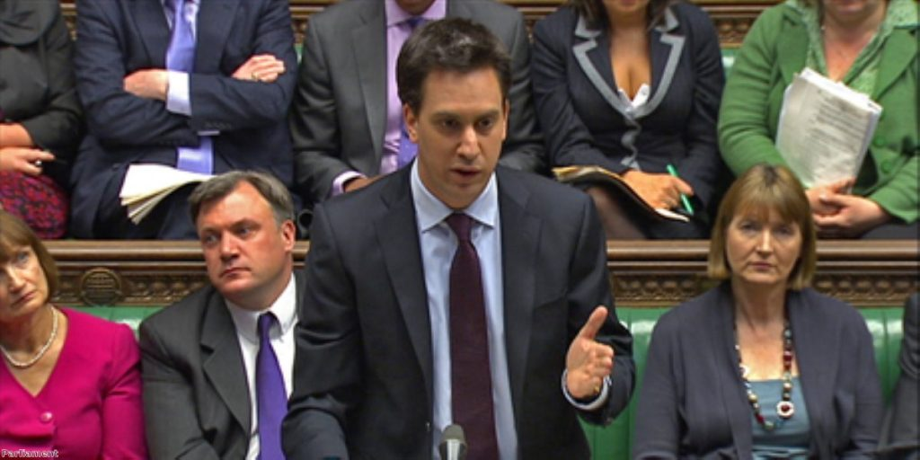 Ed Miliband tackled the PM over today's unemployment figures