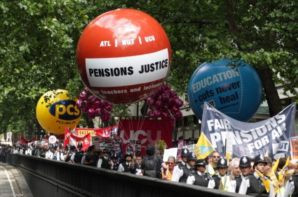 Unions took their pensions fight to the court today - but lost