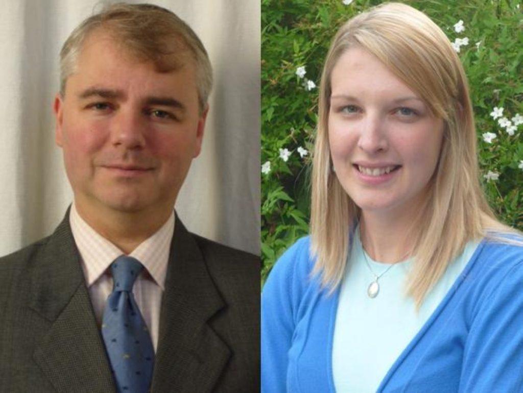 Robert Barrington of Transparency International UK and Melissa Lawson of Tearfund