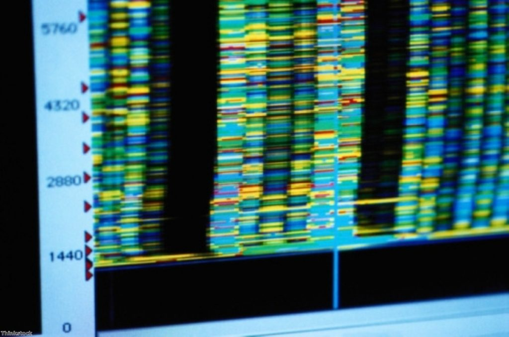 The DNA database does not actually look like this, we understand