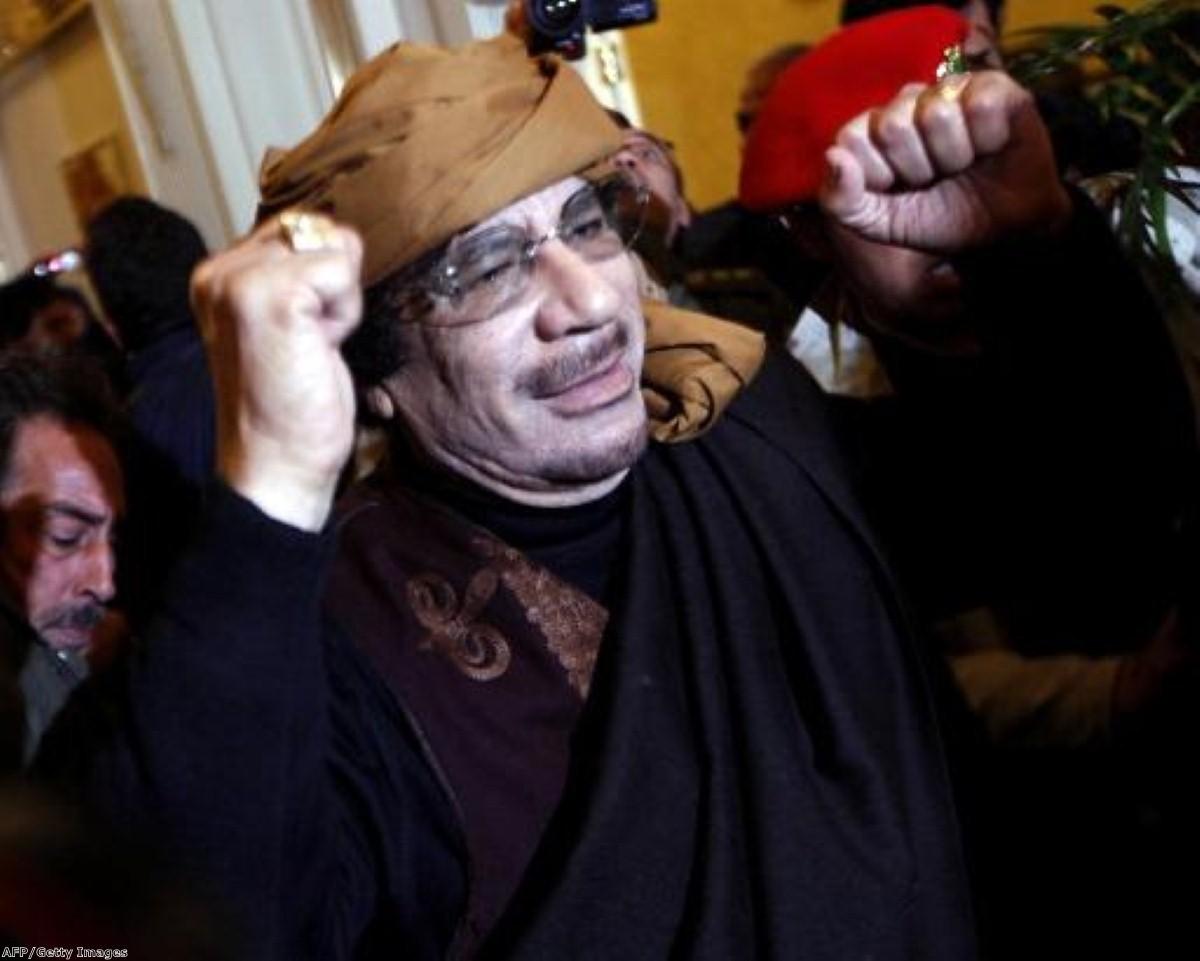 Muammar Gaddafi remains defiant