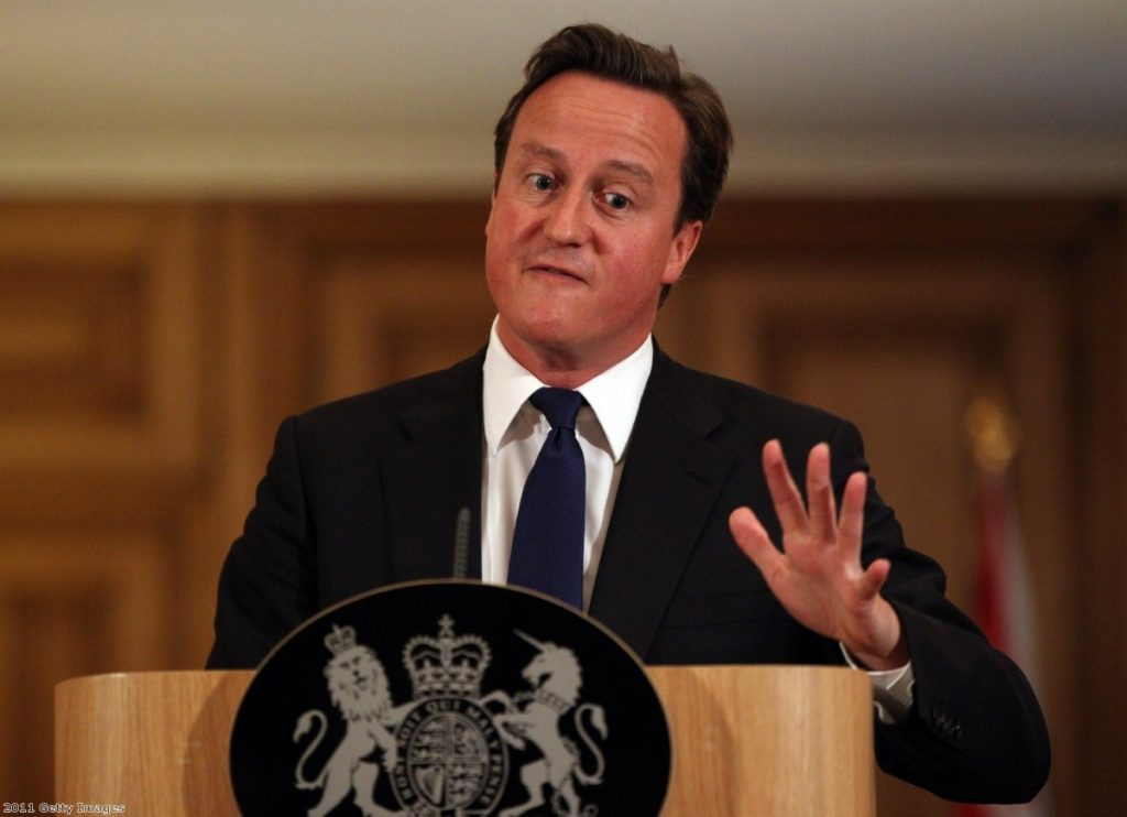 Furious: David Cameron may regret his answer to Labour's Chris Bryant