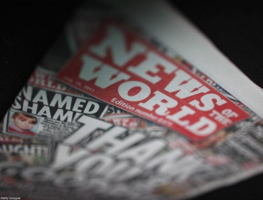 The News of the World stopped publishing last month. Photo:Getty Images