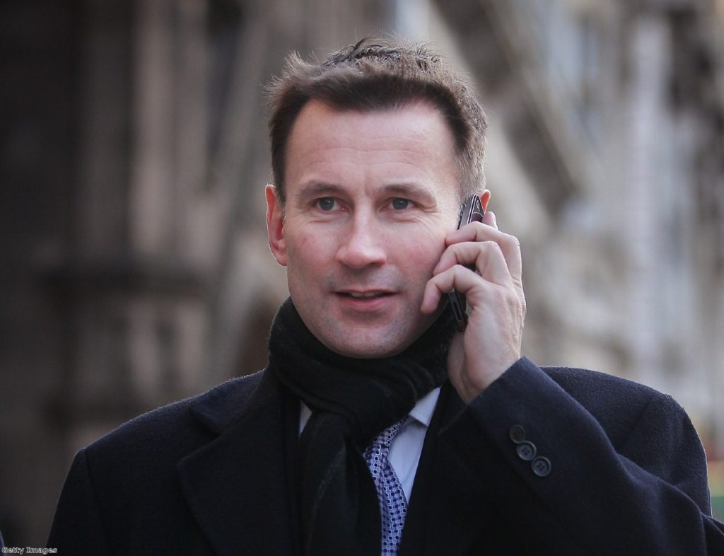 Media secretary Jeremy Hunt was handed responsibility for the BSkyB bid