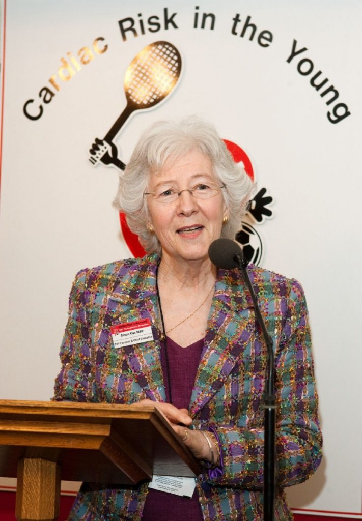 Alison Cox MBE is founder and chief executive of the Cardiac Risk in the Young charity