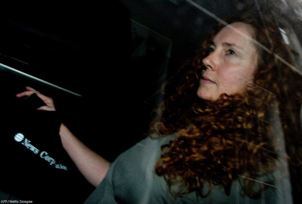 Rebekah Brooks at the height of the phone-hacking scandal which forced her resignation last summer