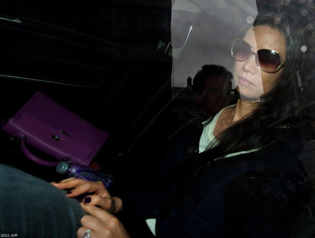 Wendi Deng: Impressive reflexes. 2011 AFP