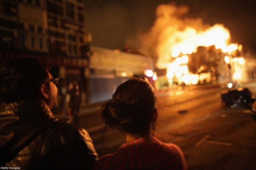 The riots caused a spike in traffic across news sites.