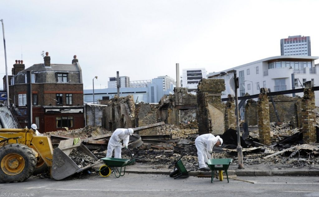Cleanup underway after last week's riots