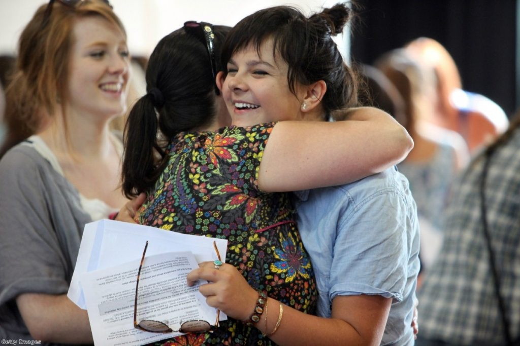 Around 335,000 students in England, Wales and Northern Ireland are receiving their A-level results today