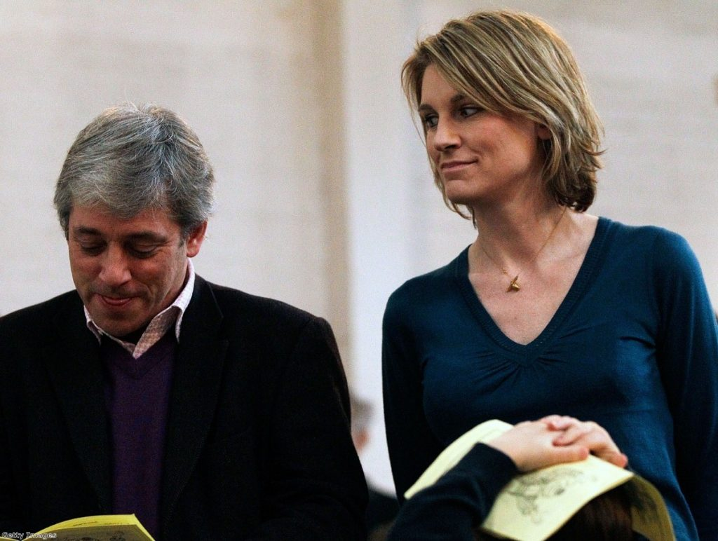 Sally Bercow and her husband tend to irritated tabloid editors and Tory MPs.