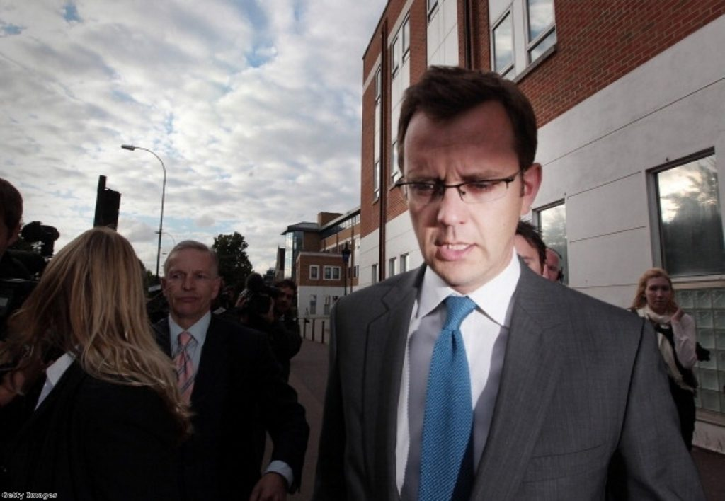 Andy Coulson became the story - and resigned in January 2011