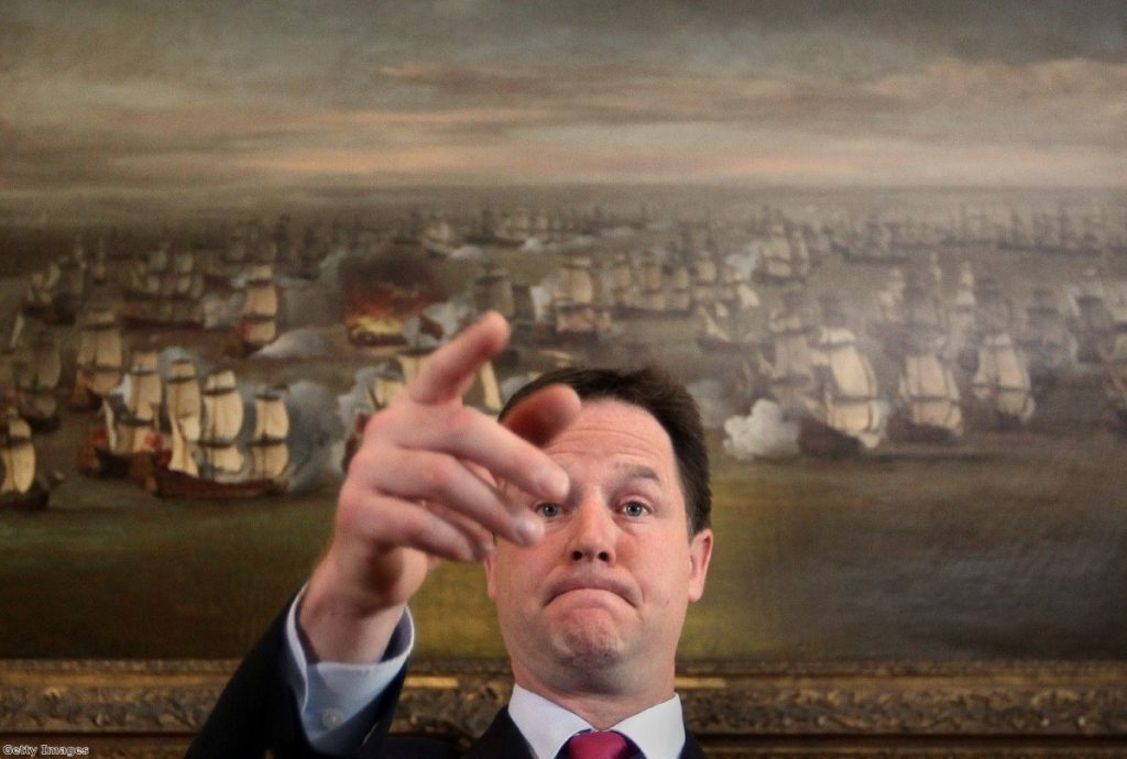 Clegg: Prepared to give way on some parts of snoopers' charter